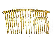 7.5cm Gilt Side Hair Comb