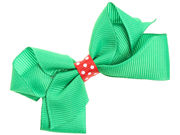 Green Christmas Bow Hair Clip