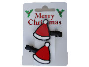 Christmas Santa Hat Hair Clips