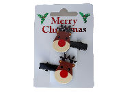 Christmas Rudolph Hair Clips