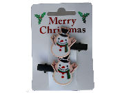 Christmas Snowman Hair Clips