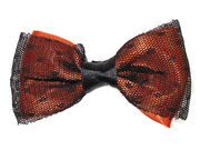 Orange Netted Bow Hair Clamp Clip