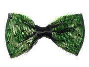 Lime Netted Bow Hair Clamp Clip