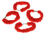 Red Twisted Hair Elastics