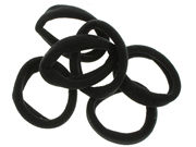 Black Jersey Endless Snag Free Hair Bobbles
