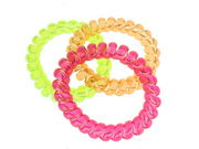 Telephone Cord Scrunchie Hair Bobbles - Brights
