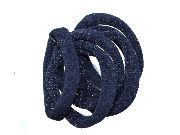 Navy Blue Jersey Endless Snag Free Hair Bobbles