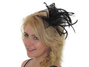Black Organza Fascinator