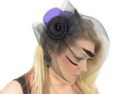Purple Top Hat Fascinator