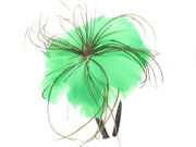 Lime Green Poppy Fascinator Band