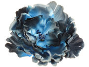 Rich Navy Blue Flower Hair Clip / Corsage