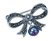 Marcasite Bow Brooch