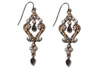 Topaz Crystal Scroll Earrings