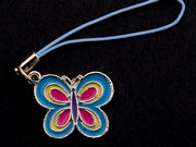 Enamelled Butterfly Phone Charm