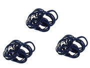 3 Packs of Navy Hair Elastic Bobbles