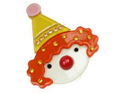 Clown Resin Hair Clip - Orange