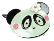 Panda Resin Hair Clip - White
