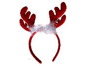 Christmas Bell Red Reindeer Antlers Headband