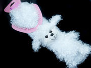 Winter Super Soft Adorable White Poodle Scarf