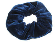 Large Navy Velvet Scrunchie