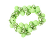 Lime Round Heart Bead Scrunchies