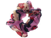 Red Abstract Print Scrunchie