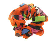 Orange Abstract Print Scrunchie