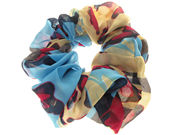 Blue Abstract Print Scrunchie