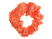 Orange Tone Creased Scrunchie Hair Bobble