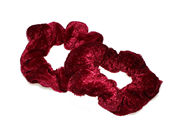 Burgundy Small Velvet School Scrunchie Bobbles