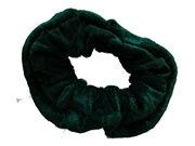 Large Bottle Green Velvet School Scrunchie Bobble