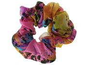 Pink Abstract Print Scrunchie Hair Bobble