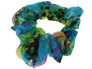 Blue Abstract Print Scrunchie Hair Bobble