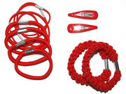Red Elastic Hair Set