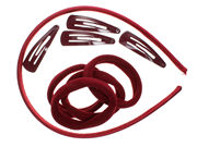 Burgundy School Headband Accessory Set