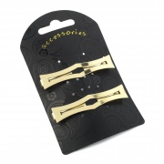Gold Sword Handle Clip In End Barrettes