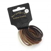 Thick Brown Soft Sheen Endless Snag Free Hair Elastic Bobbles