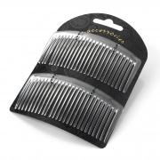 9.5cm Curved Clear Side Hair Combs