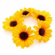 Yellow Flower Bun Garland Scrunchie Elastic