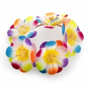Multi colour Flower Bun Garland Scrunchie Elastic