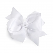 Large White Hair Bow Clip