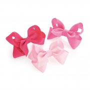 Pink Toned Bow Hair Clips