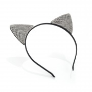 Crystal Studded Cat Ears Hair Band Headband