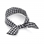 Black White Gingham Print Wired Bandeau Headband
