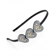 Crystal Triple Heart Hair Band Headband
