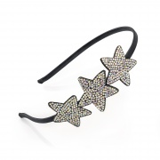 Crystal Triple Star Hair Band Headband