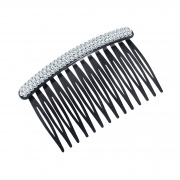 Crystal Top Black Hair Comb