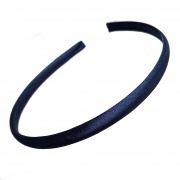 1cm Navy Blue Satin Headband