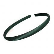 1cm Bottle Green Satin Headband
