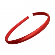 1cm Red Satin Headband